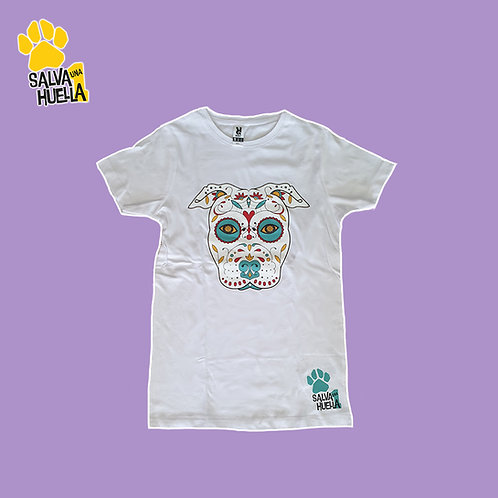 Camiseta Blanca Catrina Verde - Mujer y Niños/as