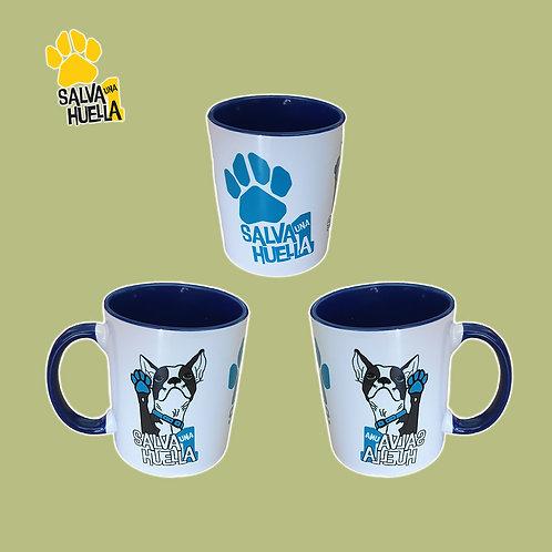 Taza Bulldog Azul Marino