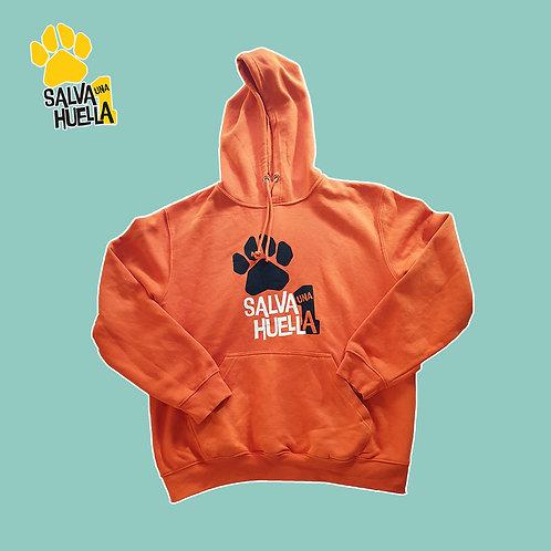 Sudadera Naranja Salva 1 Huella