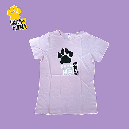 Camiseta Rosa Salva 1 Huella - Mujer y Niños/as