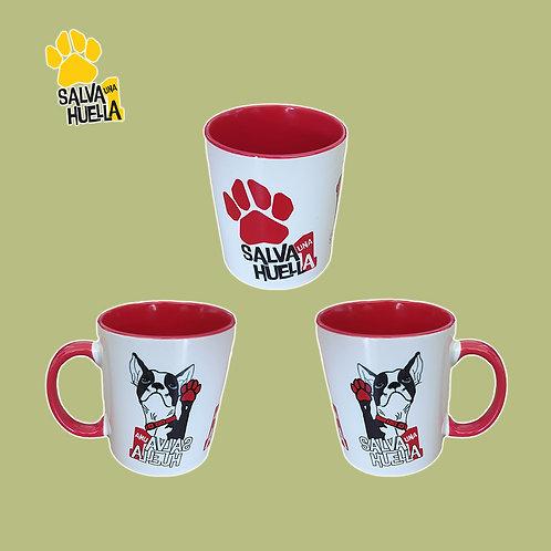 Taza Bulldog Roja