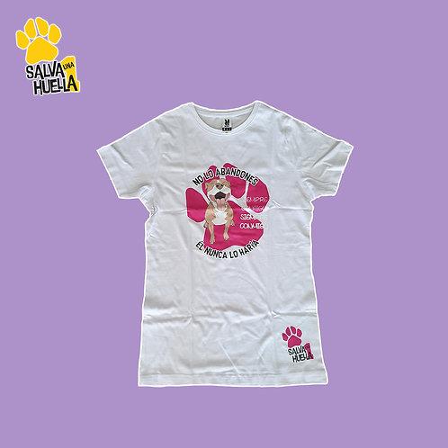 Camiseta Blanca Pit Red Rosa - Mujer y Niños/as