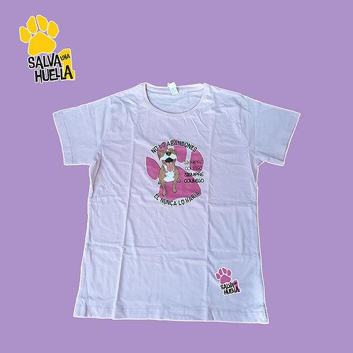 Camiseta Rosa Abandono Pit Red - Mujer y Niños/as