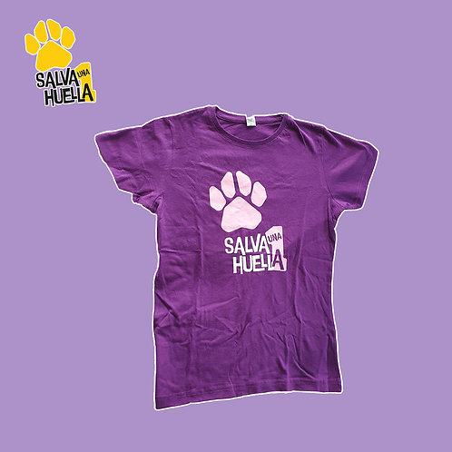 Camiseta Morada Salva 1 Huella - Mujer y Niños