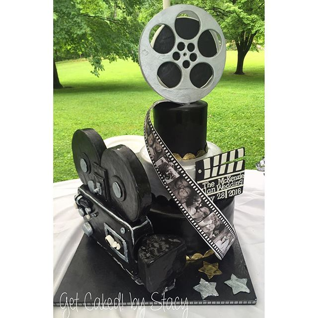 Movie theme wedding cake