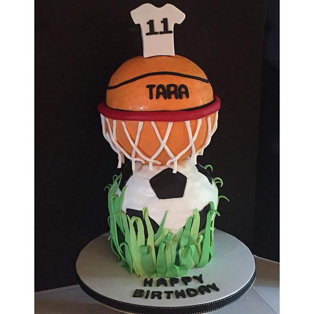 structured sports ball cake
