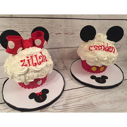 mouse inspired smash cupcakes