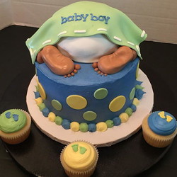 baby bum diaper shower cake
