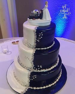 Team spirit wedding cake