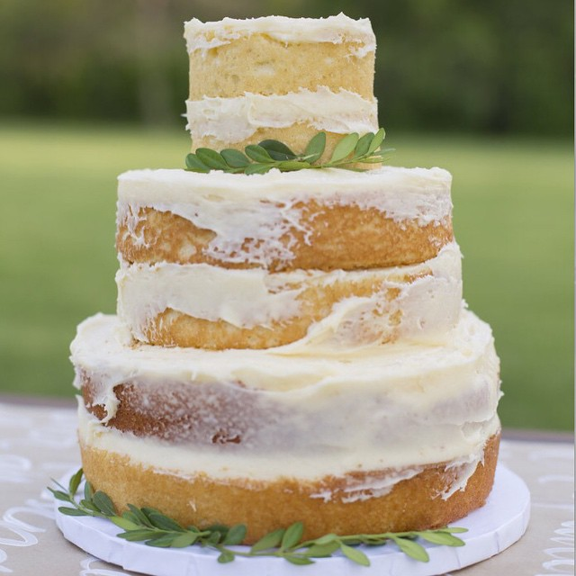 naked wedding...cake