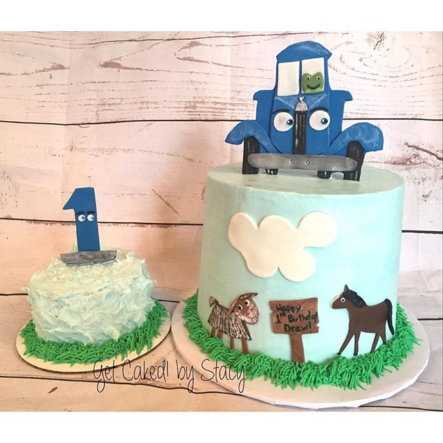 Little Blue Truck Cake