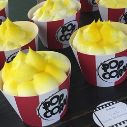 Popcorn themed cupcakes