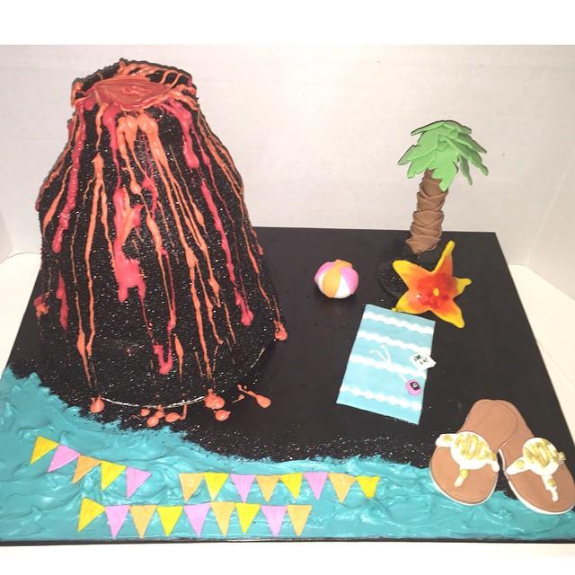 black sand beach cake