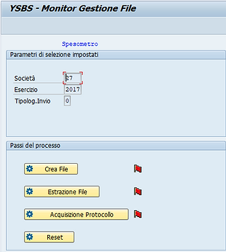 Cruscotto per creazione e gestione file spesometro in SAP