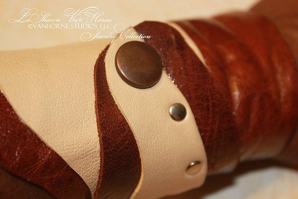 Leatherette Wrap Cuff Bracelet
