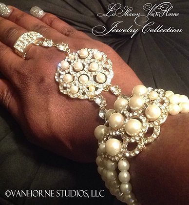 Pearls & Diamonds Ring and Bracelet Combo