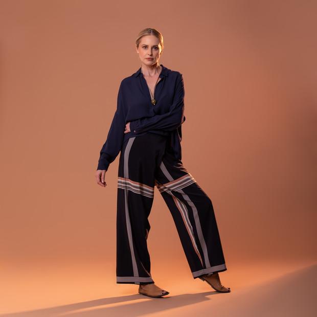 Blusa Hiroi e Calça Thai Estampada