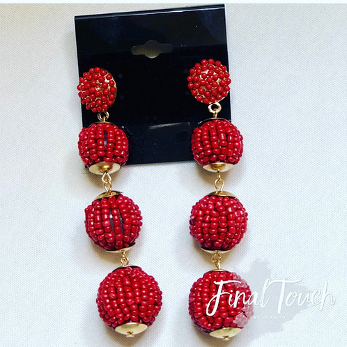 Beaded Tower Red