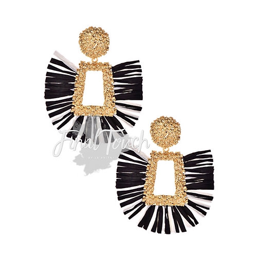 Couture Fans (Black ,White, and Gold)