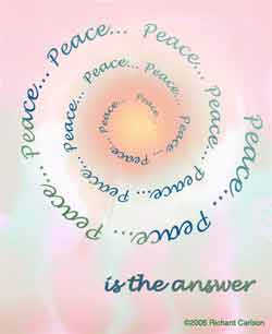 Peace is the answer.