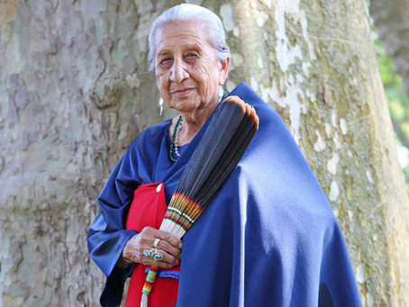 One of 13 Original Grandmothers Beatrice Long Visitor Holy Dance  on Papal Bulls