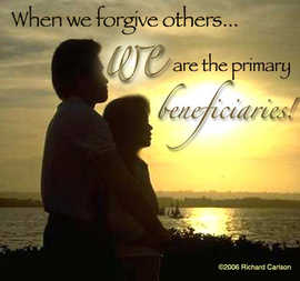 When we forgive others...
