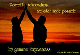 Peaceful relationships...