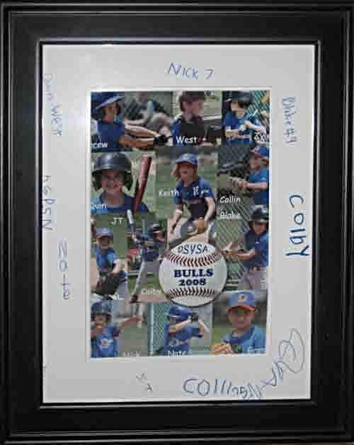Grandson Blake Baseball Collage