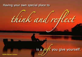 think and reflect....
