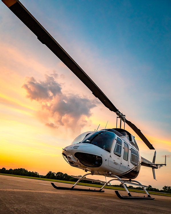 SUNSET HELICOPTER AT CHOPPER CHARTER IN BRANSON, MISSOURI