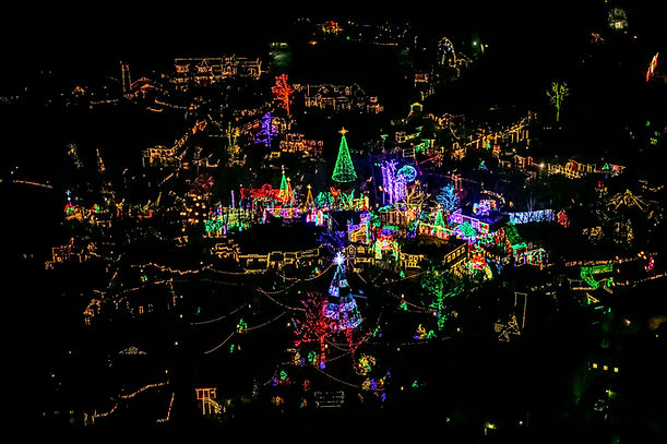 Branson christmas light helicopter tour