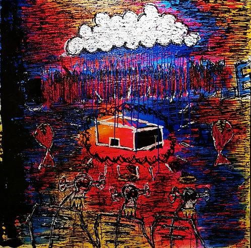 Three Men, Two Fish & One Cloud  by Henrik Berg