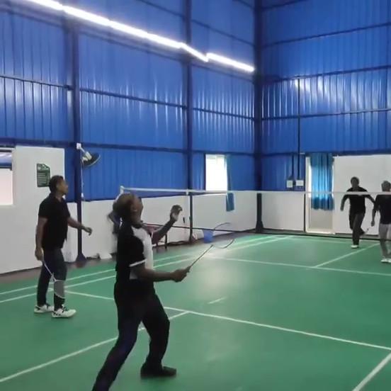 Friendly Badminton Match