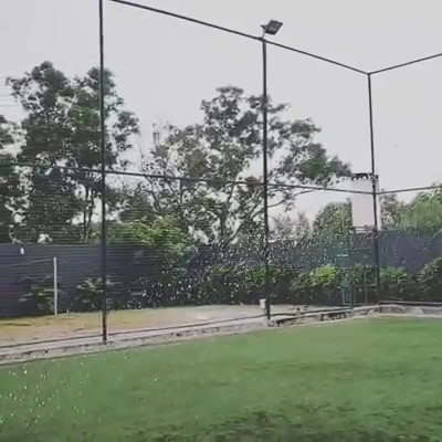 Water Spray at Football Turf