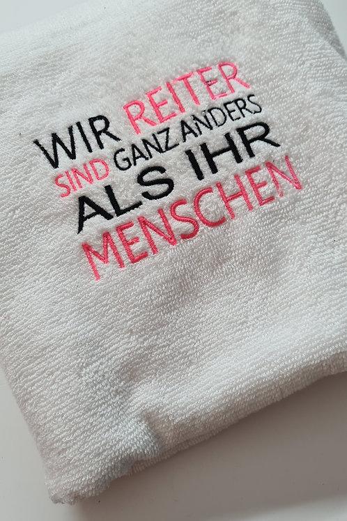 """Handtuch bestickt """"wir Reiter..."""" by Jassz Towel - Ebro"""