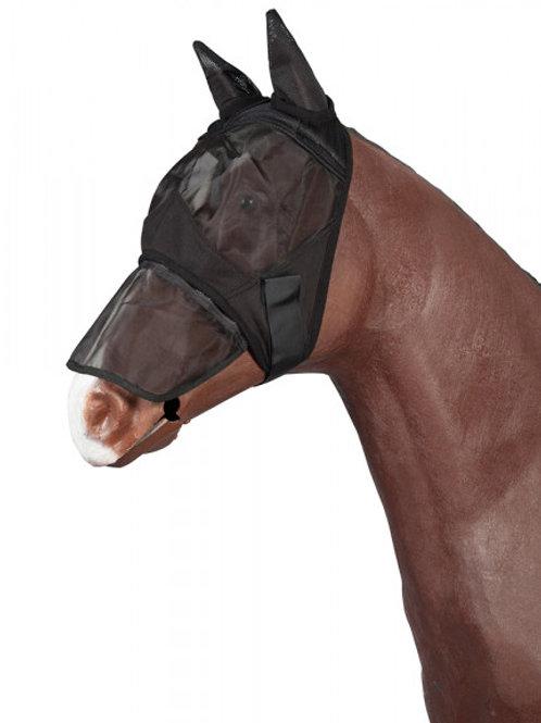 Fliegenmaske mit abnehmbaren Nüsternschutz