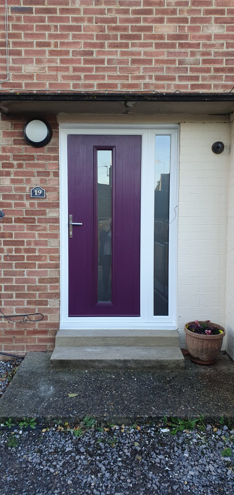 Solidor Entrance Door Aubergine