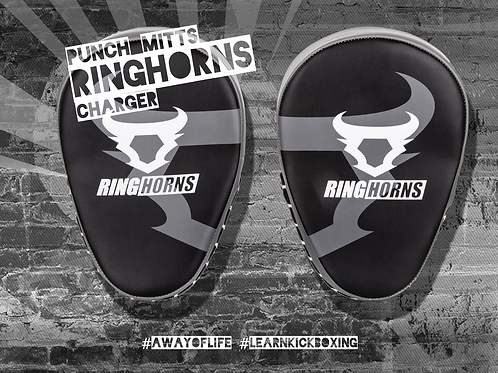 RINGHORNS CHARGER PUNCH MITTS - BLACK