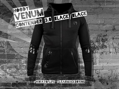 VENUM CONTENDER 3.0 HOODY - BLACK/BLACK