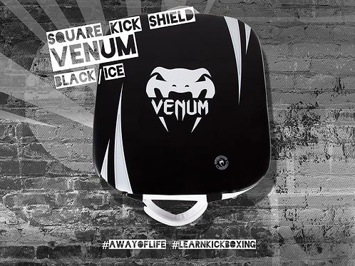VENUM ABSOLUTE SQUARE KICK SHIELD - SKINTEX LEATHER - BLACK/ICE