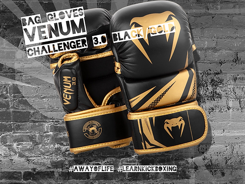 VENUM CHALLENGER 3.0 SPARRING GLOVES - BLACK/GOLD