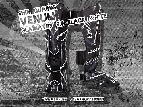 VENUM GLADIATOR 3.0 SHIN GUARDS - BLACK/WHITE