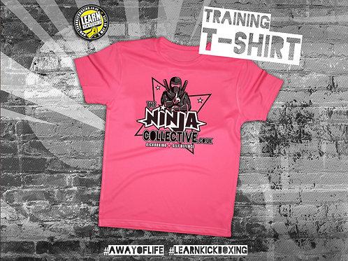 The Ninja Collective Training T-Shirt Pink (Junior)