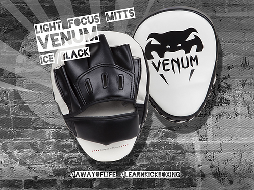 VENUM LIGHT FOCUS MITTS - ICE/BLACK (PAIR)
