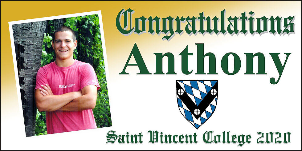 St. Vincent Diploma Style 2x4 Banner