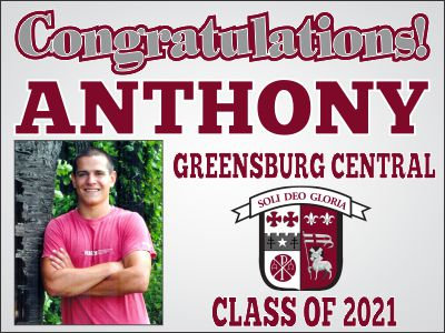 Greensburg Central Lawn Sign