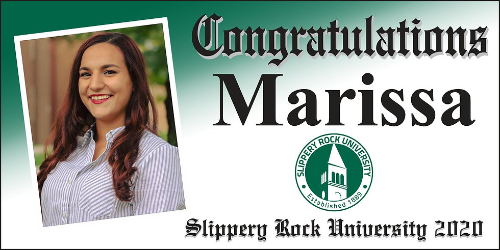 Slippery Rock Diploma Style 2x4 Banner