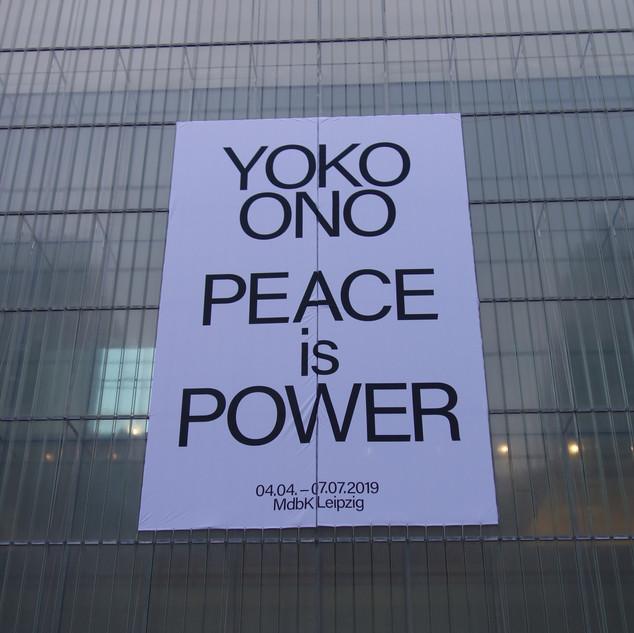 Yoko Ono-Peace is Power_Museum der bildenden Künste Leipzig
