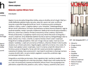 Review in the VIJENAC art magazine