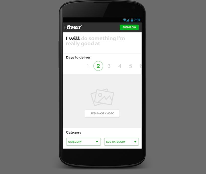 Fiverr mobile app